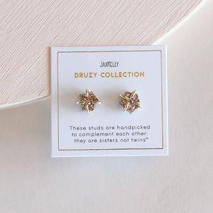 Rose Gold Druzy Prong Earrings *NEW*
